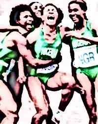 4x100m Bareclona '92 - Nigeria bronze medal winning team