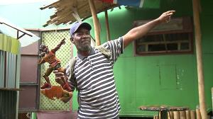 "Random guy at Cafe Africa selling Bolt ""9.58"" figurine..."