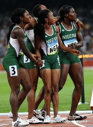 4x100m women Beijing '08 4