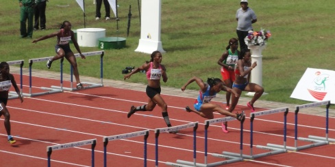 Nicole Denby, Nigeria's latest 'convert' to switch from USA, won her 100m Hurdles semi-final at the 2014 Nigerian Trials in 13.32s, ahead of Defending Champion Ugonna Ndu in 13.53s