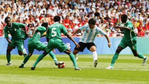 Sergio Aguero dazzling 4 Nigerian players at the 2010 World Cup in South Africa.  Argentina won that game 1-0
