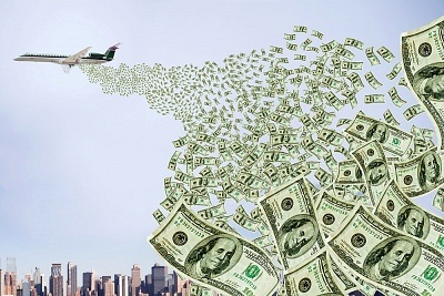 Image result for money on plane