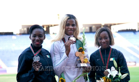Okagbare was Nigeria's sole medallist in the women's 100m final, while the Ivorian duo of Murielle Ahouré and Marie J Ta Lou won silver and bronze respectively.