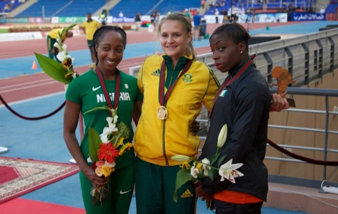 Rikenette Steenkamp was not left out in the gold rush as she added the African title to her national crown in the 100m hurdles.