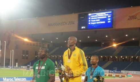 Mokoena won gold ahead of Nigeria's Tosin Oke.