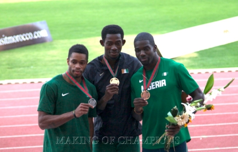 Men's double sprint champion, Hua Wilfried Koffi won gold ahead of the Nigerian pair of Mark Jelks and Monzavous Edwards.