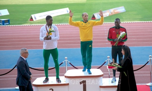 Cornel Fredericks who has been in fantastic form this season scooped the African and Commonwealth Games titles.