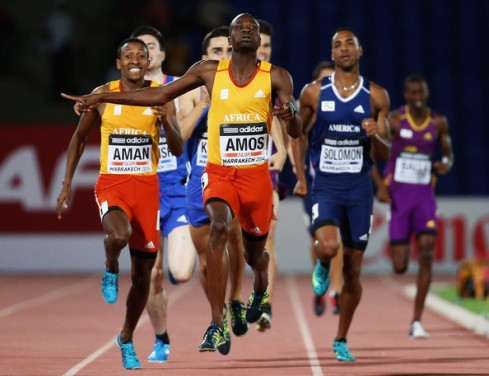 Nijel Amos inspired a 1-2 finish for Africa at the IAAF Continental Cup. (Photo Credit: Matthew Lewis/Getty Images Europe)