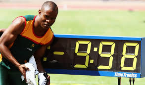 Simon Magakwe's blistering NR of 9.98s earned him the continent's top spot in 2014.  (Photo Credit: http://www.athleticsnews.co.za).