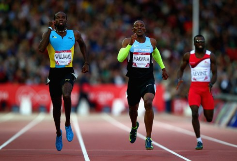 Makwala competing at the Commonwealth Games in Glasgow. (Photo Credit: Clive Rose/Getty Images Europe)